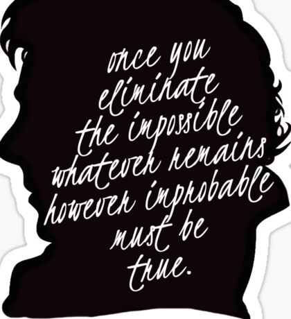 sherlock quote Sticker