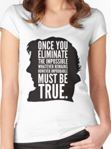 sherlock impossible Women's Fitted Scoop T-Shirt