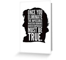 sherlock impossible Greeting Card