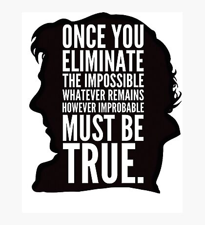 sherlock impossible Photographic Print