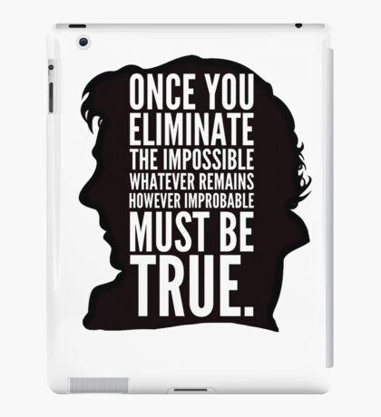 sherlock impossible iPad Case/Skin