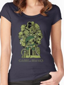 GAME OF MASKS Women's Fitted Scoop T-Shirt