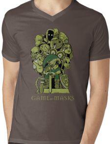 GAME OF MASKS Mens V-Neck T-Shirt
