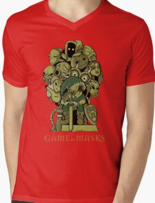 GAME OF MASKS Mens V-Neck T-Shirt