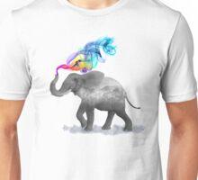 Colorful Smoky Clouded Elephant Unisex T-Shirt