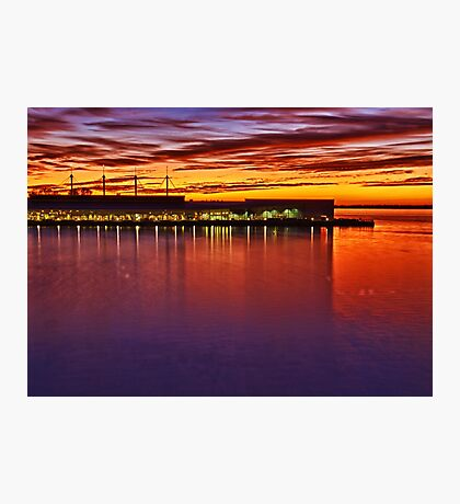 On the bayfront - Erie, PA Photographic Print