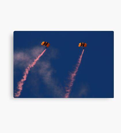 Army Parachuters Canvas Print