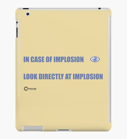 INCASE OF IMPLOSION iPad Case/Skin