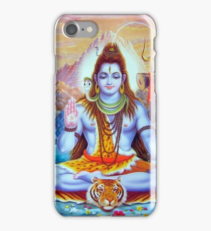 Lord Shiva Hindu Indian Art  iPhone Case/Skin