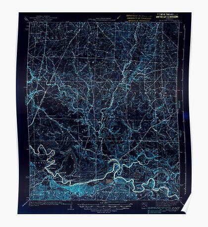 USGS TOPO Map Arkansas AR Moro Bay 260206 1938 62500 Inverted Poster