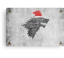 Thrones Christmas: Holidays are Coming Metal Print