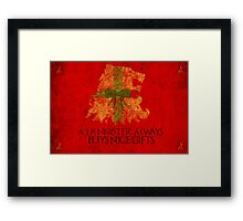 Thrones Christmas: Lannisters Spend More Framed Print