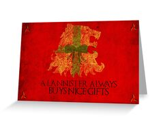 Thrones Christmas: Lannisters Spend More Greeting Card