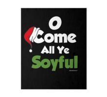 Funny Christmas Design for Vegans & Vegetarians Art Board