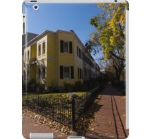 Washington, DC Facades – Sharp Autumn Shadows in Foggy Bottom Neighborhood iPad Case/Skin