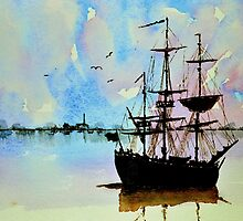 Tall ship by Steven  Ponsford