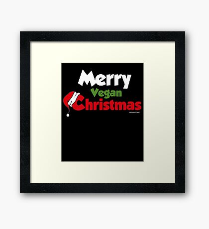 Merry Vegan Christmas Framed Print