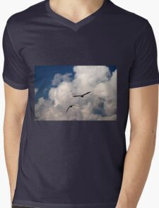 seagull fly in the sky Mens V-Neck T-Shirt