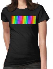 RAINBOW BLOCK Womens Fitted T-Shirt