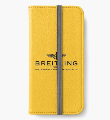 Breitling Black on Yellow iPhone Wallet/Case/Skin