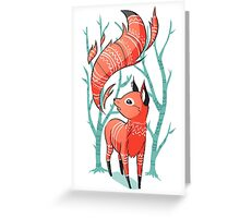 Little Fire Fox Greeting Card