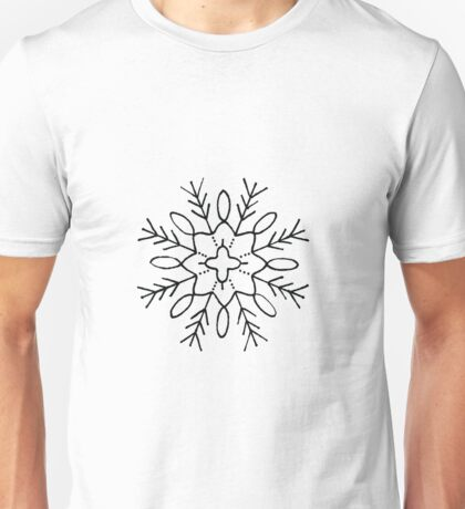 Pine Tree Star Snowflake  Unisex T-Shirt
