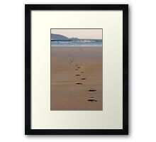 Back from the Surf Framed Print