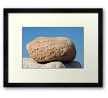 Summit stone, Halki Framed Print