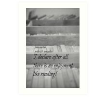Jane Austen Reading Art Print