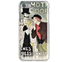 Vintage French impressionism singers ad Mothu and Doria iPhone Case/Skin
