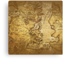 Distressed Maps: Game of Thrones Westeros & Essos Canvas Print