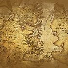 Distressed Maps: Game of Thrones Westeros & Essos by Alice Edwards