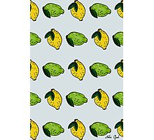 Lemon and Lime Pattern Marker Drawing Photographic Print
