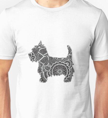 Westie zentangle Unisex T-Shirt