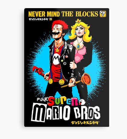 Nevermind the Blocks Metal Print