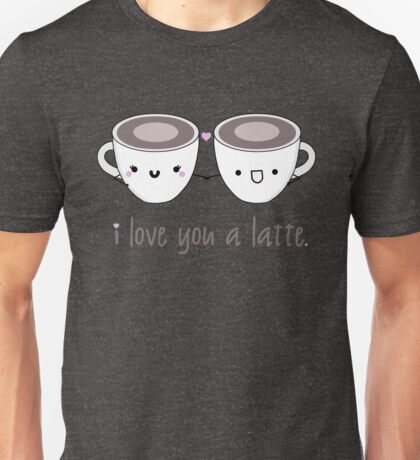 Lattes in Love Unisex T-Shirt
