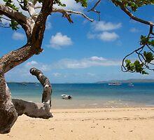 Main Beach Thursday Island  by Richard Murias
