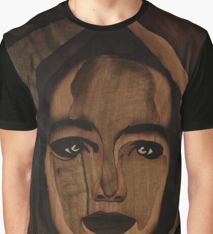 Fantasy wood face of nature woman marquetry Graphic T-Shirt