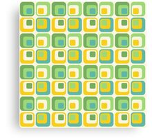 Colorful Nested Squares Pattern Canvas Print