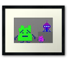Aqua Teen - Mooninites Framed Print