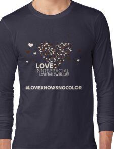 Love Interracial, Love The Swirl Life Long Sleeve T-Shirt