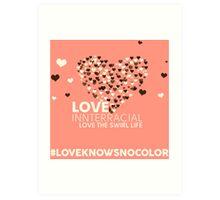 Love Interracial, Love The Swirl Life Art Print