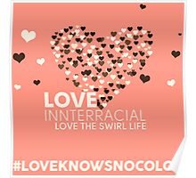 Love Interracial, Love The Swirl Life Poster