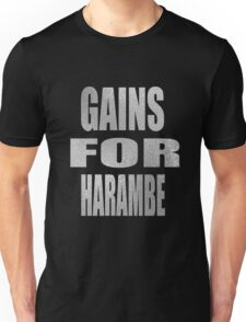 gain for harambe Unisex T-Shirt