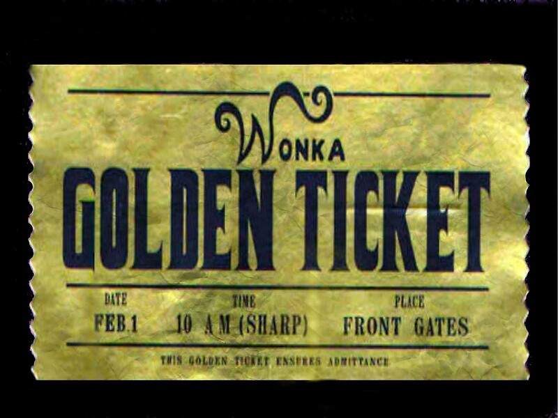 Quot Willy Wonka Golden Ticket Quot Framed Prints By