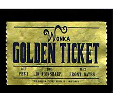 willy wonka golden ticket Photographic Print