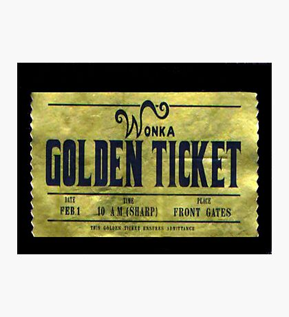 willy wonka golden ticket Photographic Print