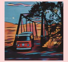 Bus on Bridge Vintage Volkswagen VW Westfalia One Piece - Long Sleeve