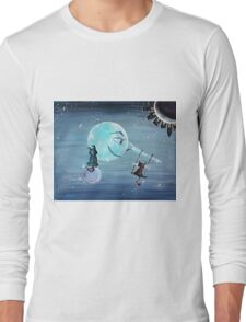 Pinocchio's Moon - For Children Paintings by Valentina Miletic Long Sleeve T-Shirt