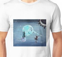 Pinocchio's Moon - For Children Paintings by Valentina Miletic Unisex T-Shirt